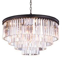 Metro - Small Orb Crystal Chandelier  (8 Light Modern Hanging Crystal Chandelier) - 2200D32