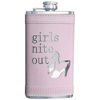 "Ladies Flask - Pink Wrap - ""Girls Nite Out"""