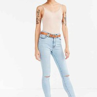 BDG Twig Crop High-Rise Skinny Jean - Bleach Blue Slash