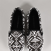 Wild Diva Lounge Marsden-08AA Tribal Slip On Sneaker