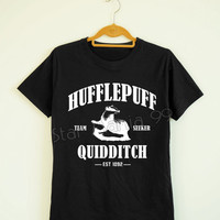Hufflepuff Quidditch Shirt Hufflepuff Shirt Harry Potter Shirt Short Sleeves TShirt Women TShirt Unisex TShirt White Tee Shirt Size S,M,L,XL