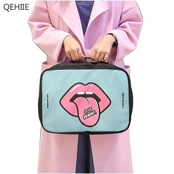 QEHIIE 2017 Fashion Cartoon Cosmetic Bag Large Capacity Portable Toilet Bathroom Storage Organizer Waterproof Bag Accessories
