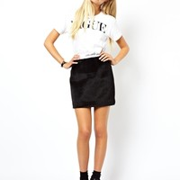 ASOS Mini Skirt in Pony Skin Look