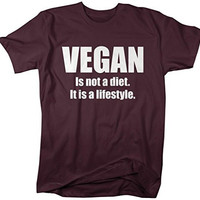 Shirts By Sarah Men's Vegan Lifestyle T-Shirt Not A Diet Shirts