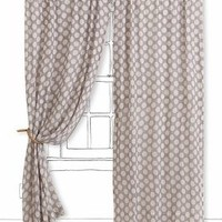 Shadow Dots Curtain by Anthropologie Black & White 84 X 48 Curtains