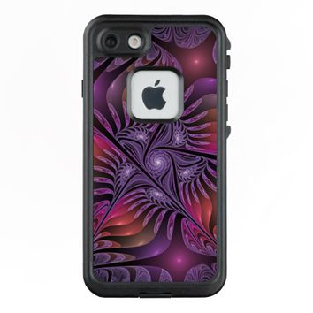 Colorful Fantasy Abstract Modern Purple Fractal LifeProof® FRĒ® iPhone 7 Case