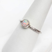Stacking Ring - Opal Stacking Ring in Sterling Silver