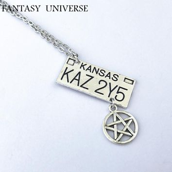 FANTASY UNIVERSE Supernatural Freeshipping Dean license plate necklace CAS01