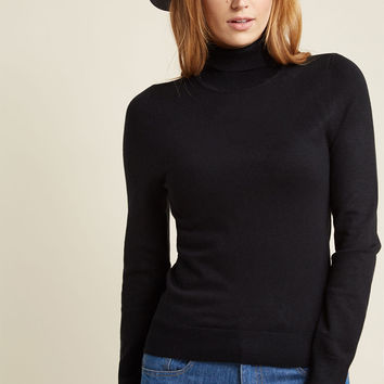 Charter School Turtleneck Sweater in Black
