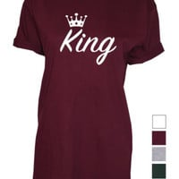 King mens Royal Crown top Tshirt Shirt print available in tank tops vests etc | eBay