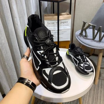 Dior Men Black/White Fashion Casual Sneakers Sport Shoes Size 38-44