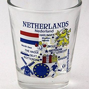 Netherlands EU Series Landmarks and Icons Shot Glass