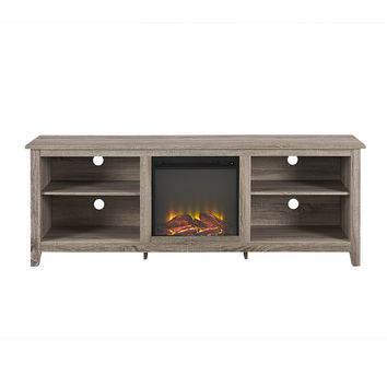 "70"" Fireplace TV Stand - Driftwood"