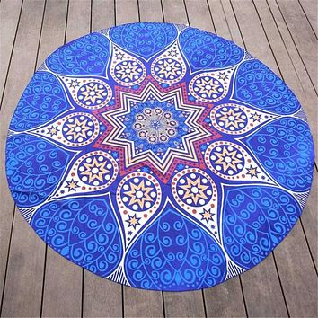 Round Hippie Chiffon Tapestry Beach Throw Towel Mat Bohemian Pool Home Shower Towel Scarves Blanket Table Cloth Mat