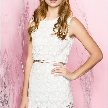 White Daisy Lace Dress