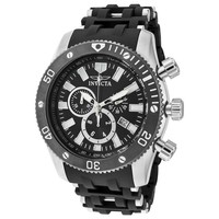 Invicta 10242 Men's Sea Spider Black Dial Polyurethane Rubber Chronograph Watch