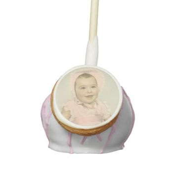 Girl Baby Shower Vintage Photo Cake Pops