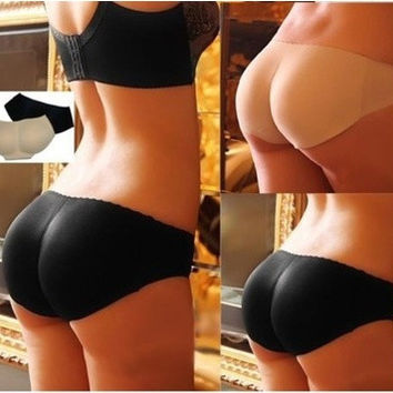 Sexy Underpants Padded Seamless Nice bottom Panties Beautify Buttocks Push Up Lingerie one size Womens Underwear = 1932765636