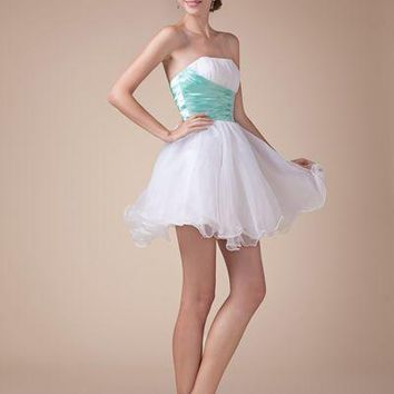 Mini Cocktail Party Dress Ball Gown Sexy Prom Dress Pearls Beading Short Homecoming Dresses