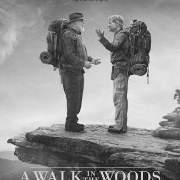 A Walk In The Woods poster Metal Sign Wall Art 8in x 12in Black and White