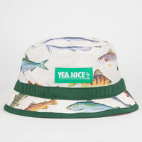 Yea.Nice Fish Mens Bucket Hat Natural One Size For Men 22687642301