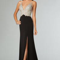 Informal Sheath Thick Straps Sleeveless No Paillette Prom Dresses