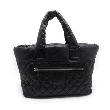 Chanel Quilted Nylon Coco Cocoon Tote Bag Black 1265