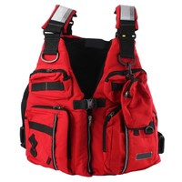 Detachable Adult Life Jacket Vest Aid Sailing Surfing Fishing Kayak Boating Outdoor Sports With ManyPockets Safe Fishing Vest