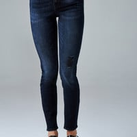High-Rise Button-Fly Skinny Jeans