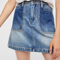Free People Blackbuster Mini Skirt