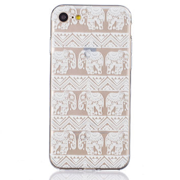 Hollow Out Lace Elephant Pineapple iPhone 6 6s Plus & iPhone 7 7Plus & iPhone se 5s + Gift Box-82