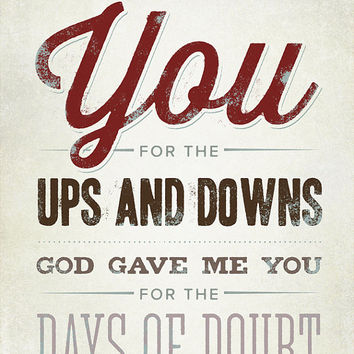 Custom Song Lyrics, Blake Shelton, God Gave Me You, Canvas Wrap, Rustic Vintage Style Typography Art, Premium Canvas