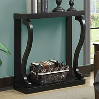 Modern Curved Legs Rich Espresso Console Table
