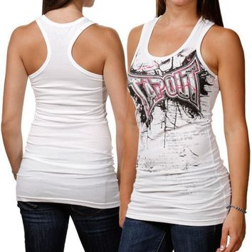 TapouT Juniors Thunderstorm Tank, White, Large