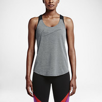 The Nike Elastika Keyhole Veneer Women's Training Tank Top.