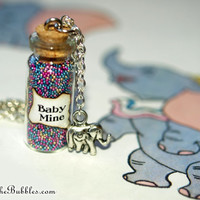 Dumbo, Baby Mine, Magical Necklace with an Elephant Charm, Disney Inspired, by Life is the Bubbles