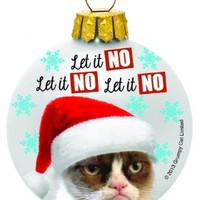 Let It No - Grumpy Cat Christmas Ornament by Ganz