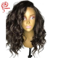 Hesperis 150% Density Deep Wave Lace Front Human Hair Wigs With Baby Hair Wavy Peruvian Hair Pre Plucked  13*6 Natural Hairline