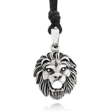 Lion Head 92.5 Sterling Silver Pewter Gold Brass Charm Necklace Pendant Jewelry