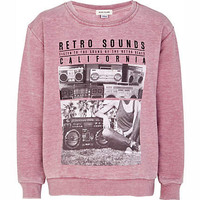 Girls pink retro sounds sweat top