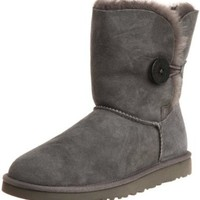 Ugg Women's Bailey Button Ankle Boot, Grey, 9 M US