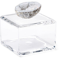 Acrylic Box w/ Blue-Gray Geode, Small, Acrylic / Lucite, Rocks, Crystals, Minerals & Petrified Wood
