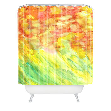 Rosie Brown Fantasy Flowers Shower Curtain