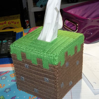 Minecraft Inspired Grass Block Tissue Cover