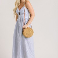 Clara Stripe Bow Midi Dress