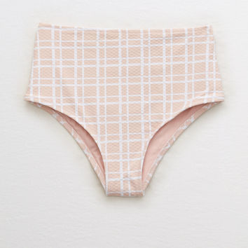 Aerie High Waisted Cheeky Bikini Bottom , Be Pretty