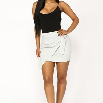 Only Other Way Skirt - Grey