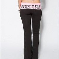 It's Ok to Stare Junior Fitted Yoga Pants - Spencer's