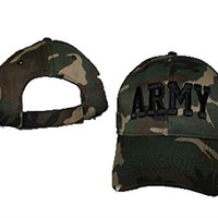 Camo Camouflage Army Embroidered Baseball Cap Hat