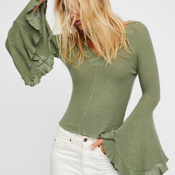 Free People Soo Dramatic Long Sleeve Top